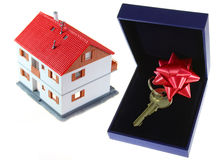 The House As Gift. Royalty Free Stock Photo