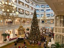 Free The Huge Christmas Tree At The  Grand Floridian Resort Hotel At Disney World Royalty Free Stock Photo - 201125855