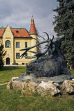 The Hunting Chateau With The Statue Of A Deer Stock Image