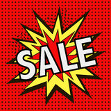 The Icon With The Word SALE Stock Image