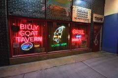 Free The Iconic Billy Goat Tavern Sign. Royalty Free Stock Images - 102455329