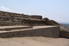 The Incan Temple Of The Sun In Pachacamac Royalty Free Stock Images