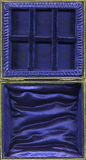The Inside Of An Empty Vintage Jewelry Box Royalty Free Stock Photography