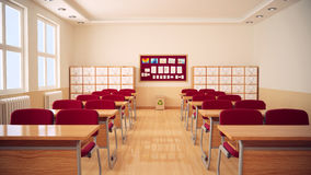Free The Interior Of Classroom. Royalty Free Stock Photos - 91009218