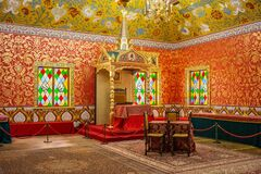 Free The Interior Of The Dining Room In The Palace Of Tsar Alexei Mikhailovich In The Kolomenskoye Museum-Reserve, Moscow City, Russia Royalty Free Stock Photos - 194733088