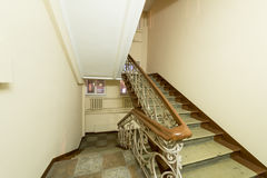 The Interior Of The Old Entrance Of An Apartment House In Moscow Stock Images