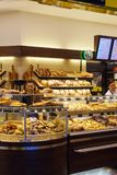 The Interior Of The Store With A Large Selection Of Bread, Rolls Royalty Free Stock Photos