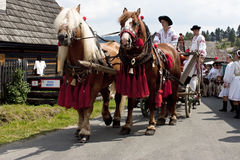 The International Folklore Festival In Slovakia Royalty Free Stock Photo