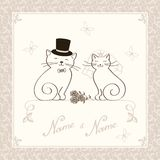 The Invitation With Kittens Royalty Free Stock Photo