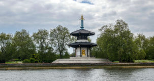 The Japanese Pagoda In Battersea Park In London Royalty Free Stock Photo