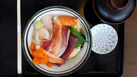 The Japanese Poke Bowl Raw Fish Tuna And Salmon Stock Photos