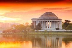 The Jefferson Memorial During The Cherry Blossom Festival In DC Stock Photography