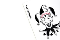 The Joker Playing Poker Cards Stock Images