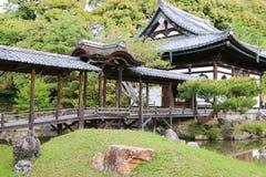 The Kangetsu-dai Bridge In The Garden At Kodaiji Temple In Kyoto Royalty Free Stock Photo