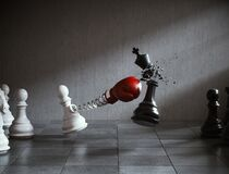 Free The King Golden Chess Fight. Stock Image - 182819891