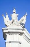 The Knight Guide Sculpture Group Of Bratislava Castle Gate, In Bratislava, Slovakia. Stock Photography