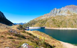 Free The Lake Colombo Dam With The Becco Lace In The Brembana Valley Orobie Alps Royalty Free Stock Images - 160192499