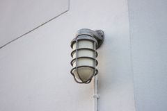 The Lamp Post Off On Wall Stock Image