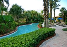 Free The Landscape And Swimming Pool In A Resort Royalty Free Stock Images - 3717099