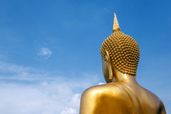 The Large Golden Buddha Statue Of Buddha Pagoda Concentrates On Stock Images