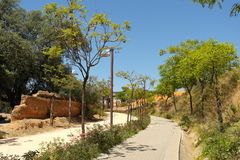 The Large Urban Park In Spain Royalty Free Stock Images