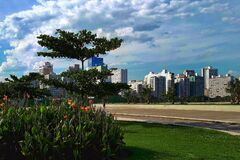 The Largest Beach Gardens In The World Are In Santos Royalty Free Stock Photography