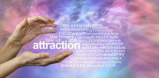 Free The Law Of Attraction Word Cloud Royalty Free Stock Photos - 78999598