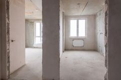 Free The Layout Of Rooms And Rooms In New Building, A View Of Two Rooms And A Partition Between Them Royalty Free Stock Image - 100839236