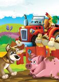 The Life On The Farm - Illustration For The Children Royalty Free Stock Photography