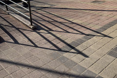 Free The Lines And Shadows On Concrete Royalty Free Stock Photos - 80981618