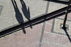 Free The Lines And Shadows On Concrete Royalty Free Stock Image - 80982366