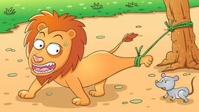 Free The Lion And The Mouse. Aesop Fairy Fable Tale Stock Images - 158458294