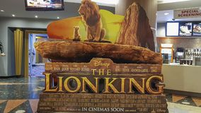 Free The Lion King Movie Poster, It Is A Photorealistic Live-action Remake Of Disney&x27;s Traditionally Animated 1994 Film Stock Photos - 161028063