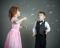 The Little Boy And The Girl Stock Image