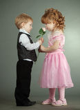 The Little Boy And The Girl Stock Photography