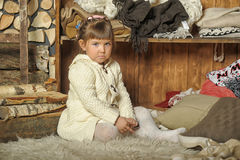 Free The Little Girl Next To The Wardrobe Stock Image - 30474241