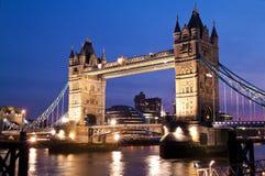 The London Bridge At Sunset Stock Photo