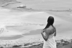 Free The Lonely Woman Who Observes The Sea Royalty Free Stock Image - 136422516