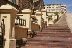 The Long Steep Steps Stock Photo