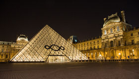 Free The Louvre Of Paris In France By Night Royalty Free Stock Photography - 32214327
