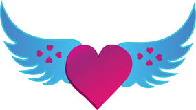 The Love Heart Of Wings Royalty Free Stock Photography