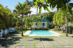 The Luxury Hermitage Plantation Inn In The Caribbean Island Of Nevis Stock Photography