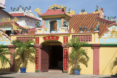 The Main Entrance In An Ancient Pagoda (the Whale Temple). Phan Thiet, Vietnam Stock Image