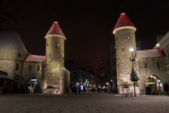 Free The Main Entrance Towers Of Tallinn Old Town Stock Images - 104778384