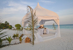 The Maldives At Sunset Stock Image