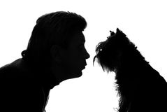 The Man And Dog Royalty Free Stock Photos
