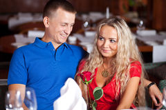 The Man And Fine Girl Royalty Free Stock Photography