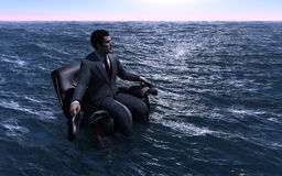 The Man  On The Sea. Stock Image