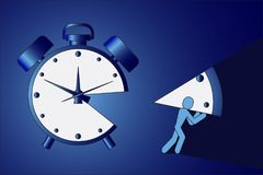 Free The Man Stole A Piece Of Time Illustration Royalty Free Stock Image - 100725466