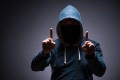 Free The Man Wearing Hood In Dark Room Stock Image - 91295261
